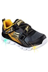 Skechers Negro / Amarillo de Niño modelo HYPNO-FLASH 90580L - CON LUCES Casual Deportivo Walking Zapatillas Urban