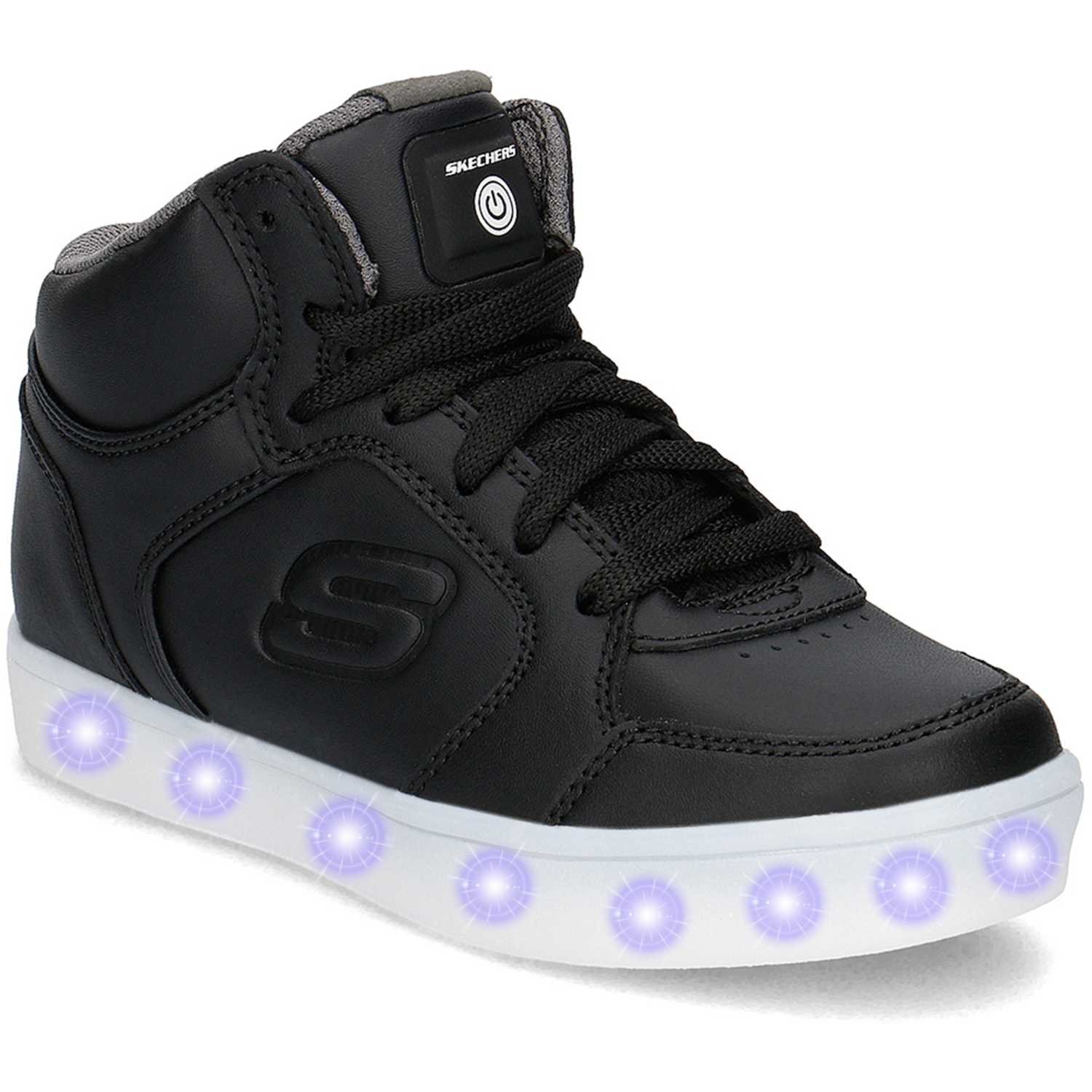 69e766a1 Zapatilla de Niño Skechers Negro energy lights 90600l - con luces ...
