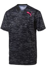 Polo de Hombre Puma ESSENTIAL TECH GRAPHIC TEE Negro /Gris