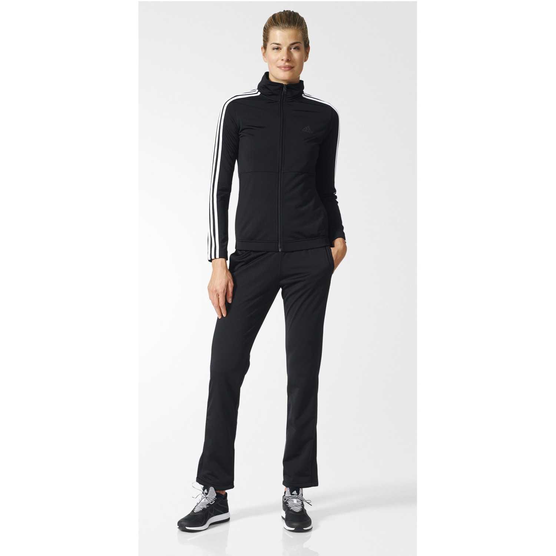 Buzo de Mujer adidas Negro / Blanco back2bas 3s ts