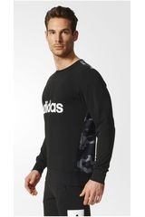 adidas Negro de Hombre modelo ESS LINAOP CREW Deportivo Poleras