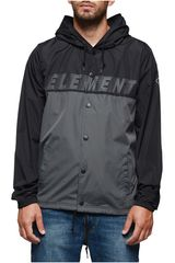 Casaca de Hombre Element HOODED COACH TW Negro /Gris