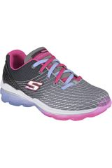 Skechers Gris de Niña modelo SKECH-AIR 81195L Deportivo Casual Zapatillas Walking Urban