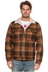 Billabong Marron de Hombre modelo BARLOW PLAID JACKET Casacas Casual