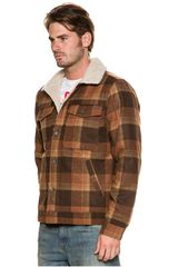 Casaca de Hombre Billabong Marron barlow plaid jacket  79cc301b779