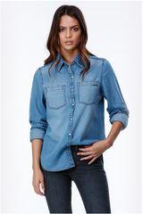 Billabong Denim de Mujer modelo RINGER SHIRT Casual Mujer Ropa Blusa