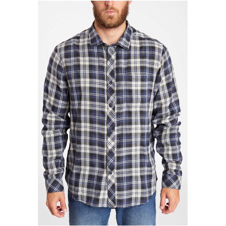 Camisa de Hombre Billabong Azul / Blanco fremont ls shirt