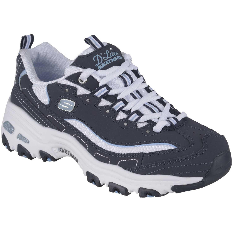 Zapatilla de Mujer Skechers Acero / Blanco dlites big 11930