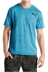 Polo de Hombre Puma ESSENTIAL PURETECH HEATHER T Celeste
