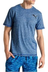 Polo de Hombre Puma ESSENTIAL PURETECH HEATHER T Azul