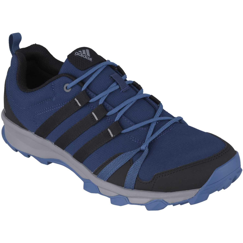zapatillas adidas azul y negro