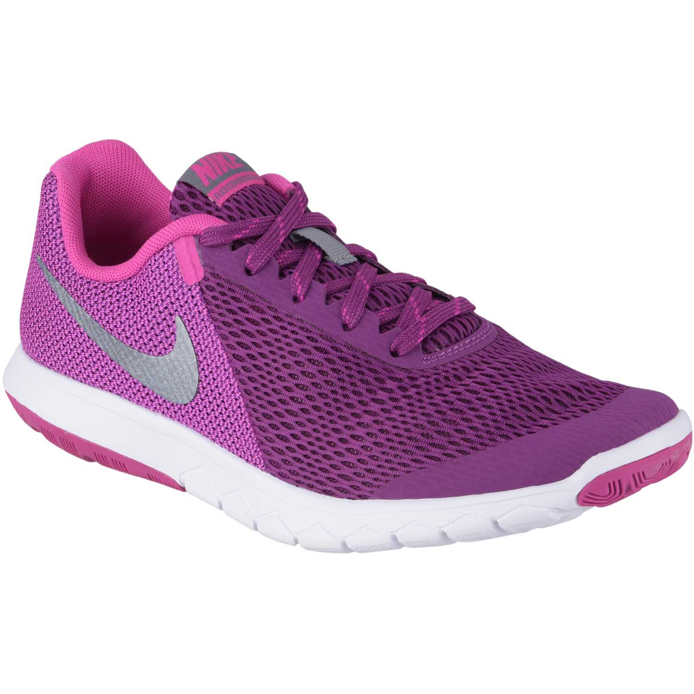 Nike Wmns Flex 2015 RN - para Hombre, Gris/Rosa/Blanco, 36