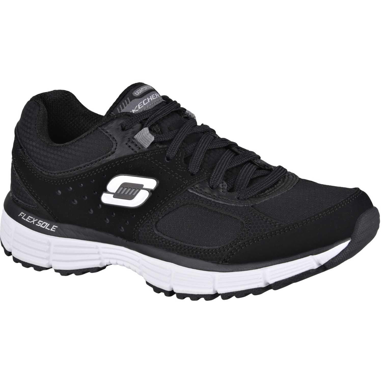 Zapatilla de Mujer Skechers Negro Negro Negro / Blanco agility ramp 11906 c3b19e