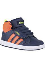 adidas NEO Azul / Naranja de Niño modelo HOOPS CMF MID INF Deportivo Niños Walking Zapatillas Hombre Calzado