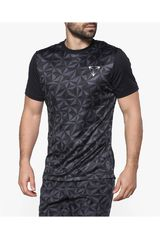 Umbro Gris / Negro de Hombre modelo VELOCITA GRAPHIC POLY TEE Polos Camisetas Deportivo