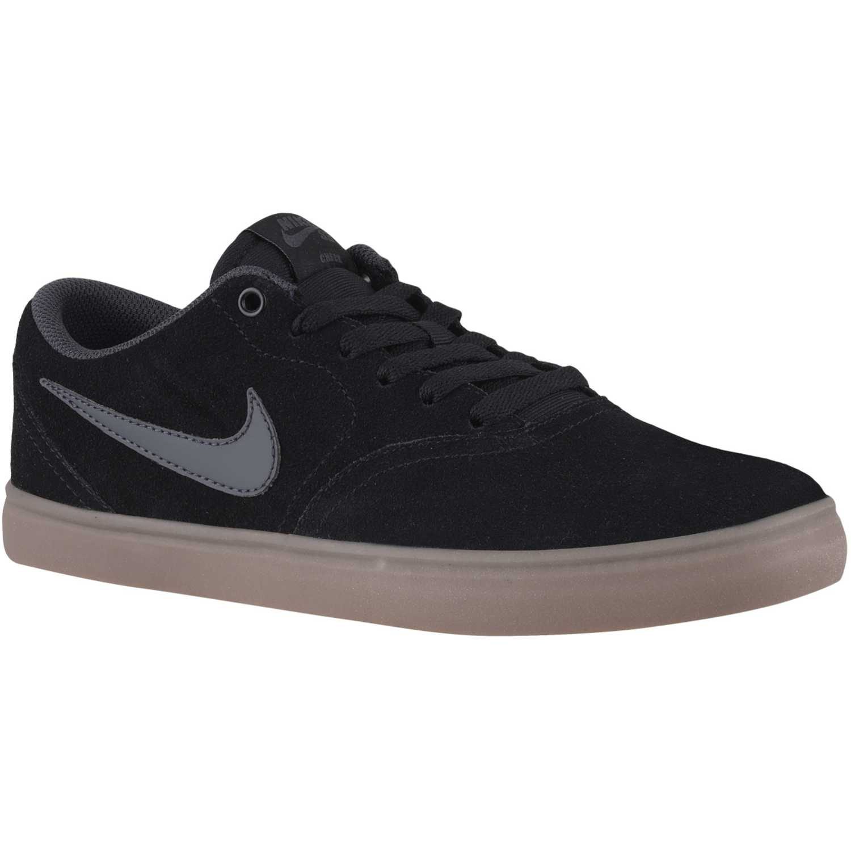 size 40 e816a 49eef Zapatilla de Hombre Nike Negro /Gris sb check solar | platanitos.com