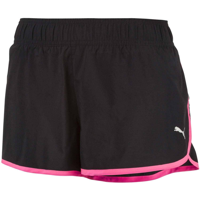 Short de Mujer Puma Negro / rosado core-run 3 shorts w