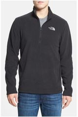 The North Face Gris Oscuro de Hombre modelo M TKA 100 GLACIER 1/4 ZIP Casacas Casual