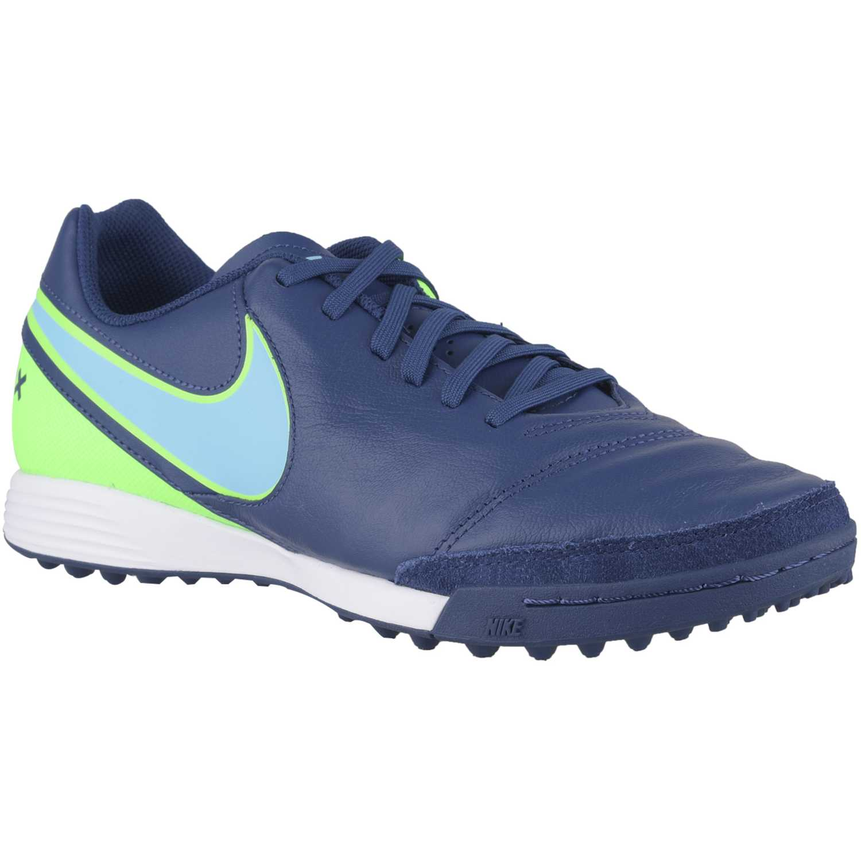242b6abf3cc4e Zapatilla de Hombre Nike Azul   Blanco tiempox genio ii leather tf ...