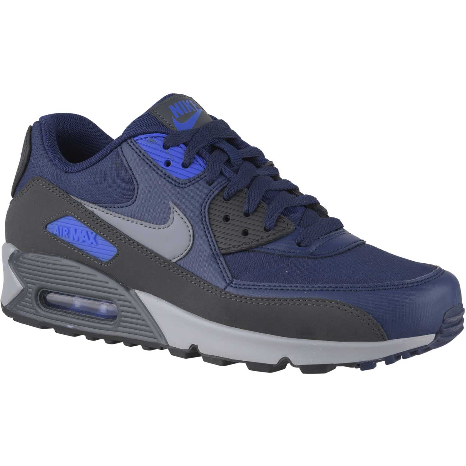 hombres nike air max 90 negro and azul