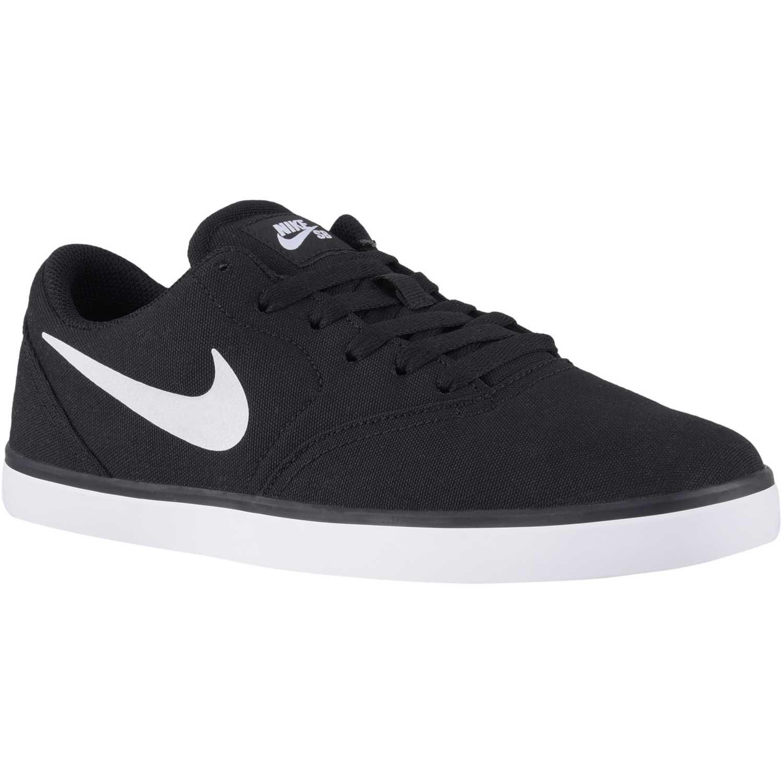 Zapatilla de Hombre Nike Negro / Blanco sb check cnvs