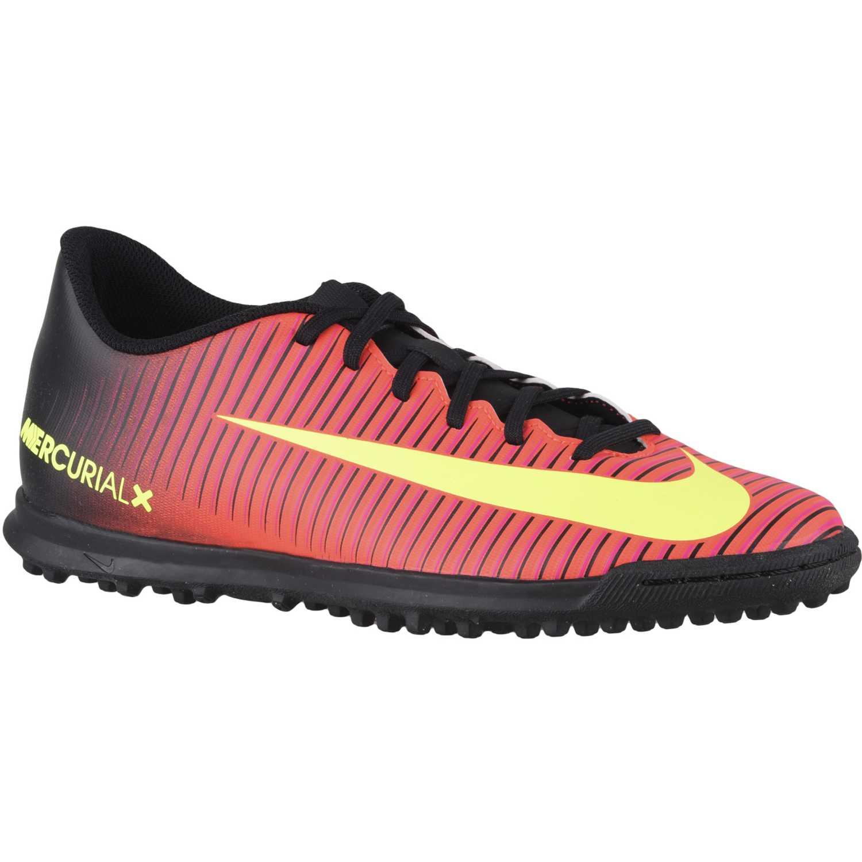 low priced 5e18a c96bf Zapatilla de Hombre Nike Negro   Naranja mercurialx vortex iii tf