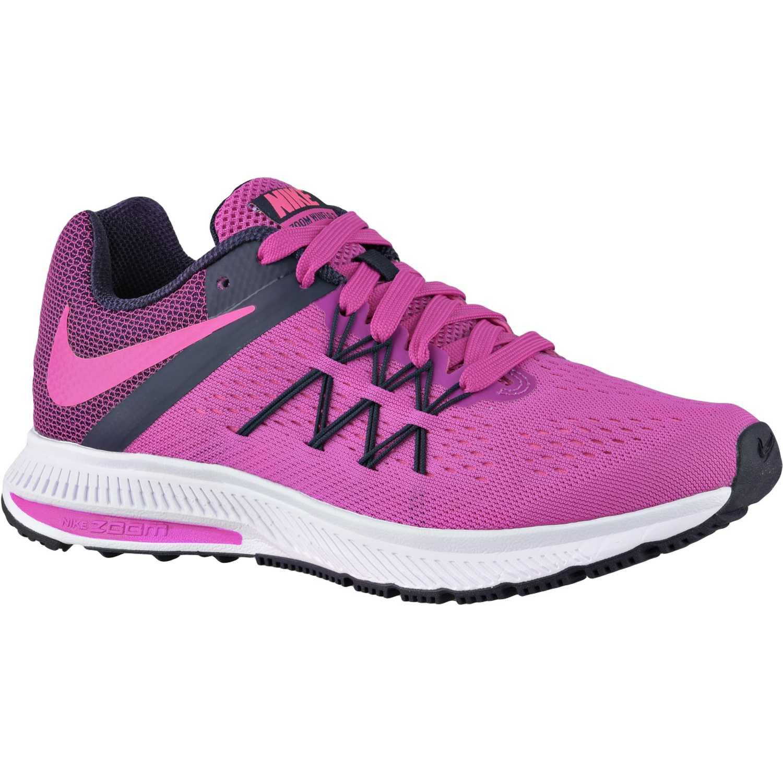 5100ba9097817 Zapatilla de Mujer Nike Morado   Blanco wmns zoom winflo 3 ...