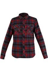Dunkelvolk Rojo de Hombre modelo VOLCANO Camisas Casual Hombre Ropa