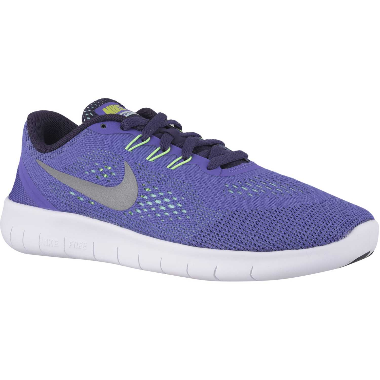 Zapatilla de Jovencita Nike Lila / blanco free rn gg