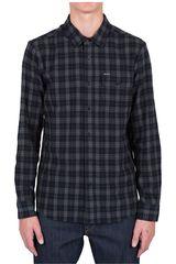 Volcom Gris Oscuro de Hombre modelo FULTON L/S FLANNEL Camisas Casual Hombre Ropa