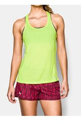 Under Armour Limón de Mujer modelo UA FLY BY STRETCH MESH TANK Bividis Deportivo