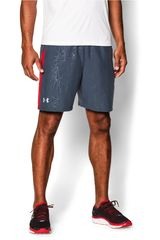 Under Armour Gris / Rojo de Hombre modelo UA LAUNCH 7 WOVEN SHORT Deportivo Shorts