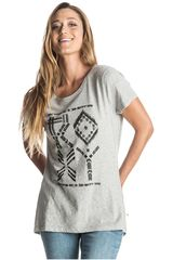 Roxy Gris de Mujer modelo BASIC CREW TRIBES Casual Polos