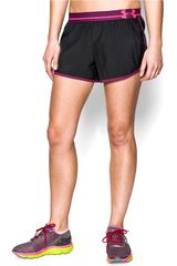 Under Armour Negro / Lila de Mujer modelo UA PERFECT PACE SHORT Deportivo Shorts Ropa