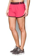 Under Armour Coral / Negro de Mujer modelo UA PERFECT PACE SHORT Shorts Deportivo