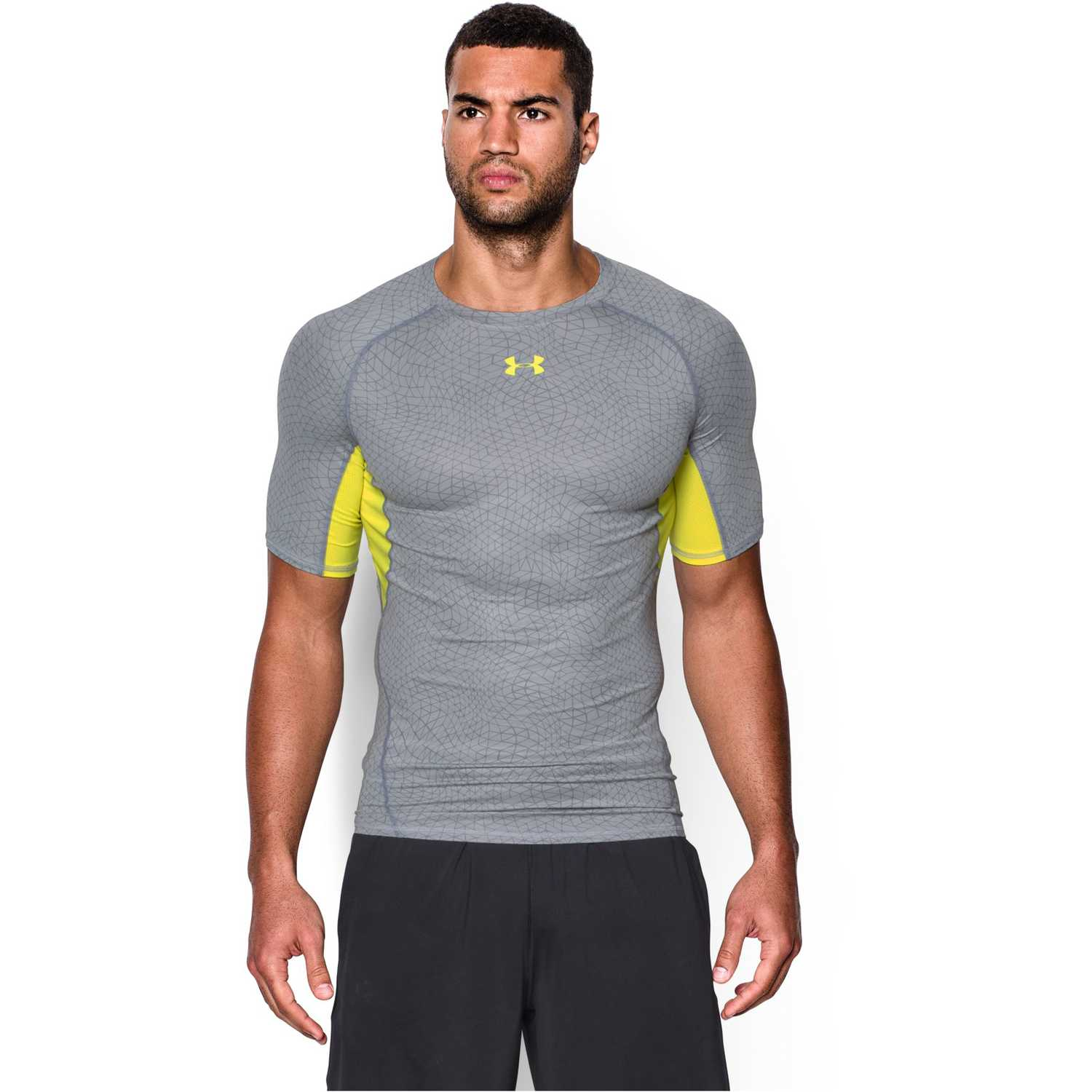 Polo de Hombre Under Armour Gris / Amarillo armour hg printed ss