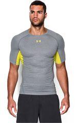 Under Armour Gris / Amarillo de Hombre modelo ARMOUR HG PRINTED SS Fit Deportivo Polos Camisetas