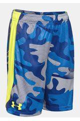 Under Armour Celeste / Amarillo de Jovencito modelo ELIMINATOR PRINTED SHORT Shorts Deportivo