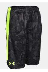Under Armour Negro / Verde de Jovencito modelo ELIMINATOR PRINTED SHORT Shorts Deportivo