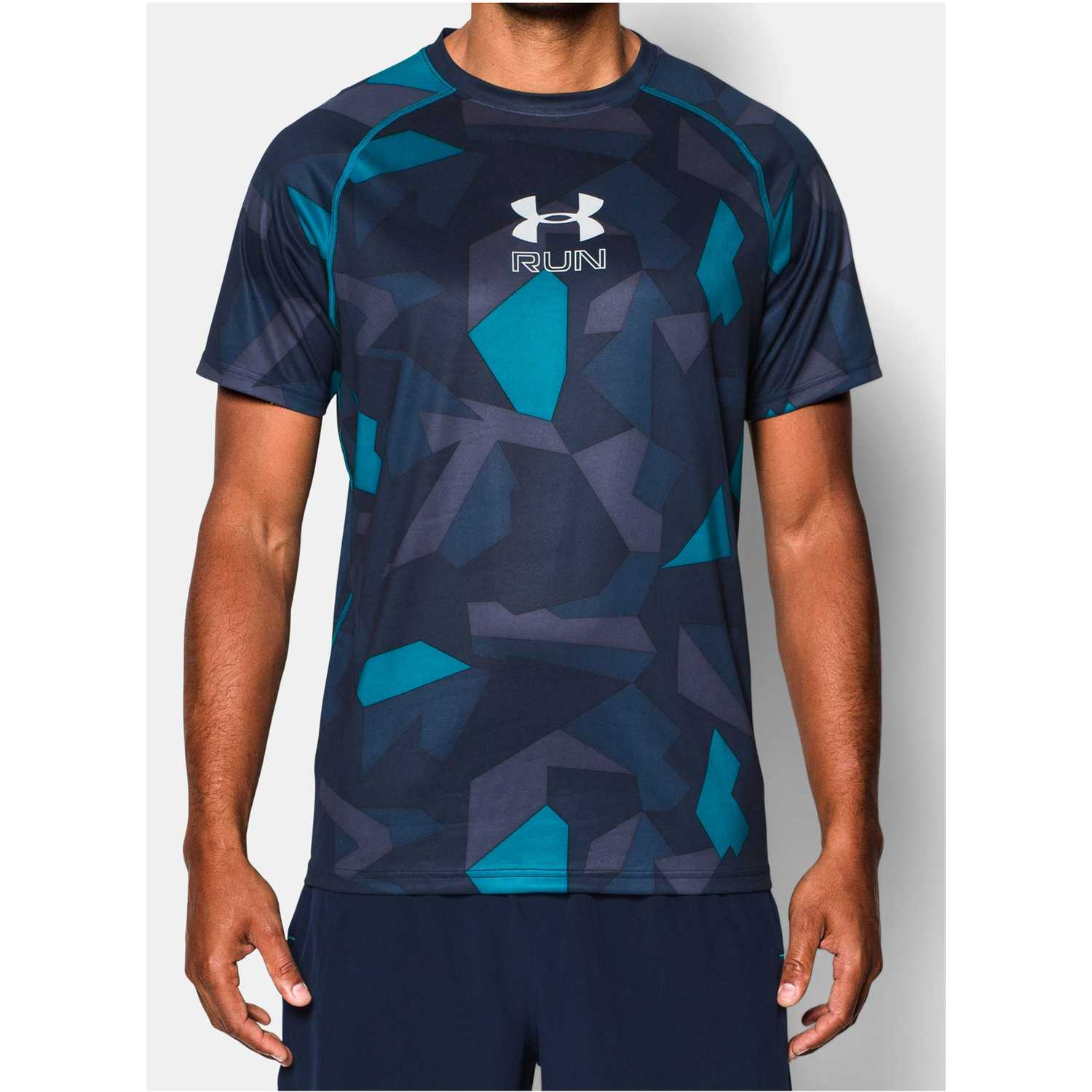 b056d68aadba2 Camiseta de Hombre Under Armour Acero   Turquesa ua run graphic ss ...