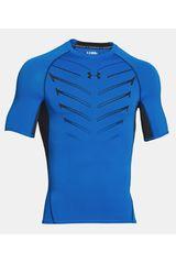Under Armour Azulino / Negro de Hombre modelo ARMOUR HG EXO SS Fit Deportivo Polos Camisetas