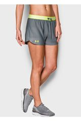 Under Armour Gris / Amarillo de Mujer modelo UA PLAY UP SHORT Deportivo Shorts