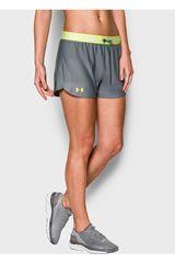 Under Armour Gris / Amarillo de Mujer modelo UA PLAY UP SHORT Shorts Deportivo