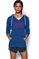 Under Armour Azul / Naranja de Mujer modelo FAVORITE FLEECE HOODY Poleras Casacas Deportivo