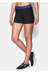 Under Armour Negro / Azul de Mujer modelo HEATGEAR ARMOUR SHORTY Shorts Pantalonetas Deportivo