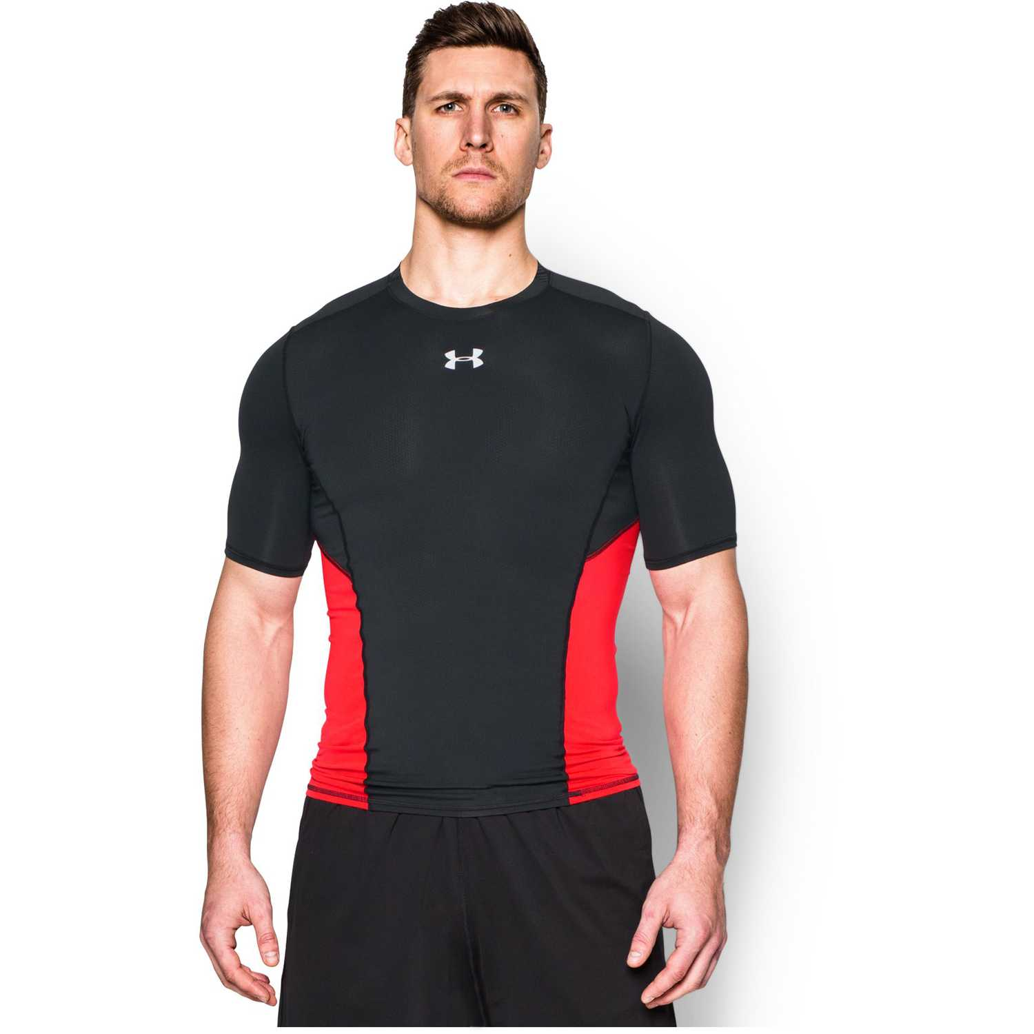 Polo de Hombre Under Armour Negro   Rojo ua hg coolswitch comp ss ... 02c55b6443