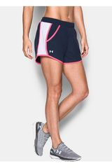 Short de Mujer Under Armour Acero / Rosado FLY BY SHORT