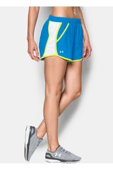 Under Armour Celeste / Blanco de Mujer modelo FLY BY SHORT Deportivo Shorts