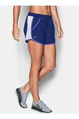 Under Armour Morado / Blanco de Mujer modelo FLY BY SHORT Deportivo Shorts