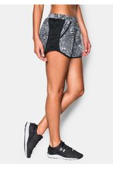Under Armour Negro / Blanco de Mujer modelo FLY BY PRINTED SHORT Deportivo Shorts